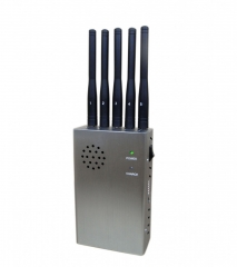Portable Wireless Camera Signal Jammer with 5 Antenna Wi-Fi/Bluetooth GPS GLONASS Jammer