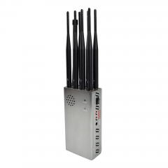 N8P High Power Plus 8 Antennas 5.6W Portable Cell Phone Jammer,Jamming 2g/3G/4G and LOJACK Signals