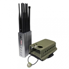 10 Antennas CellPhone GSM 4G WIFI GPS UHF VHF Jammer With Nylon Case