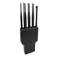 The Most Powerful Handheld 8 Bands Cell Phone Signal Jammer ,16W Jamming up to 40m