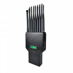 New Hidden Antennas Portable 16 Antennas Portable Cell Phone Signal Jammer Blocking 4G Wi-Fi(2.4G, 5G) GPS Lojack UHF VHF RC 315 433 868 Signal(EU&AU version)