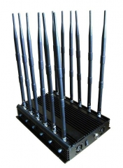 High Power Adjustable12 Antennas WiFi GPS VHF UHF LoJack RF 315/433 3G 4G All Bands Adjustable Signal Jammer