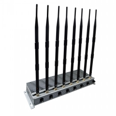New Powerful Adjustable 50W 8 Antennas cellphone WIFI signal Jammer indoor using up to 80m
