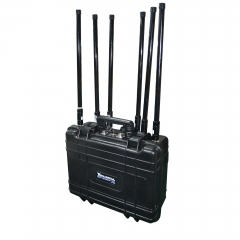 100W High-output Power HandHeld Cell Phone Jammer for 2/3/4G Signal Up to 100m Built-in Battery