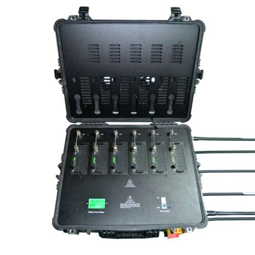 Jumping up - Portable Pelican Case RF Bomb Cellphone Signal Jammer GPS WiFi Blocker