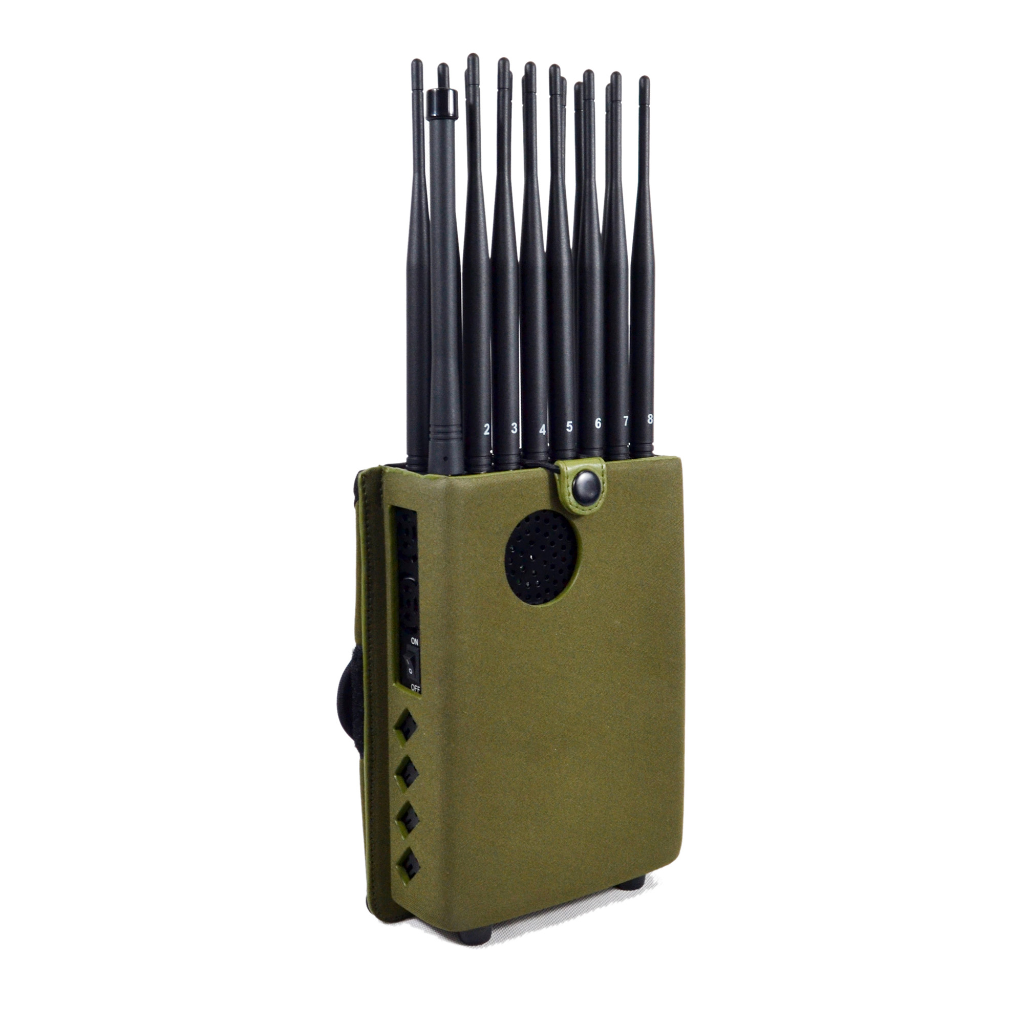 Jammer motorcycle products - Full Bands Jammer Adjustable 16 Antennas Powerful 3G 4G Phone Blocker &WiFi UHF VHF GPS L1/L2/L5 Lojack Remote Control All Bands
