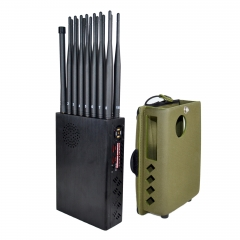 2020 16 Watt New Handheld 16 Bands Cell Phone Signal Jammer With Nylon Cover,Blocking 5G 4G Wi-Fi5G RF Signal Jammer (US & South AmericanVersion)