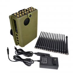 2020 16 Watt New Handheld 16 Bands Cell Phone Signal Jammer With Nylon Cover,Blocking 5G 4G Wi-Fi5G RF Signal Jammer (EU &AU Version)